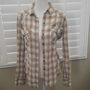 Hurley plaid shirt